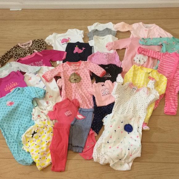 714d2aca8e0d5 28 piece Newborn Lot of baby clothes bundle